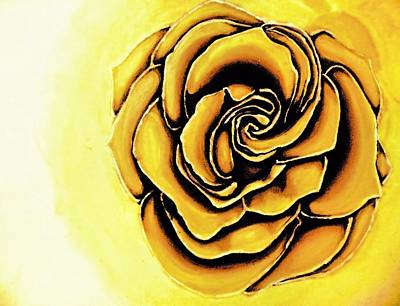 Painting - The Yellow Rose by Victoria Rhodehouse