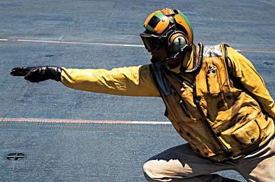 Flightdeck Photograph - The Yellow Shirt by See My  Photos