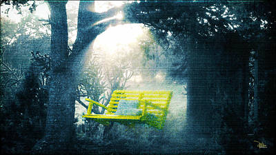 Mist Painting - The Yellow Swing by Douglas MooreZart