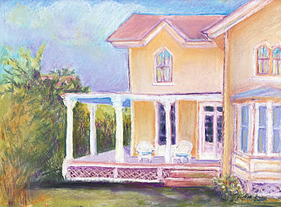 Salt Air Painting - The Yellow Victorian By The Sea by Deborah Burow