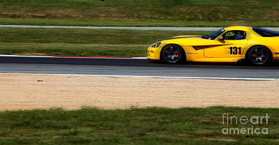 Sports Cars Photograph - The Yellow Viper  by Steven Digman