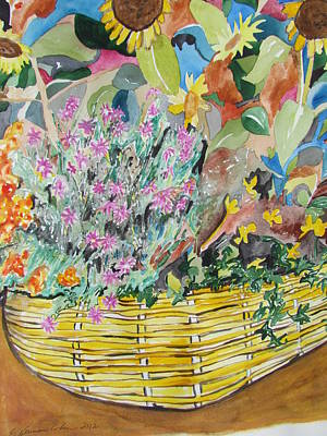 Painting - The Yellow Wicker Basket by Esther Newman-Cohen