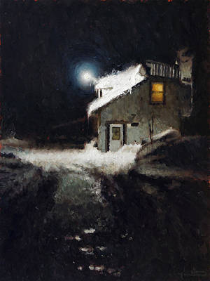 Quebec Painting - The Yellow Window by Nicolas Martin