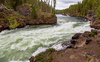 Photograph - The Yellowstone River by John M Bailey