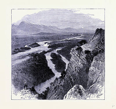 Yellowstone Drawing - The Yellowstone River United States Of America by American School