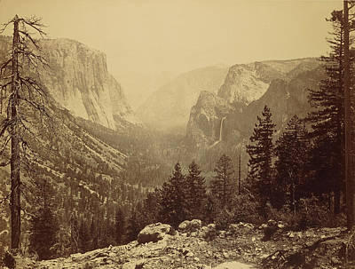 Yosemite National Park Drawing - The Yosemite Valley From Inspiration Pt. Mariposa Trail by Litz Collection