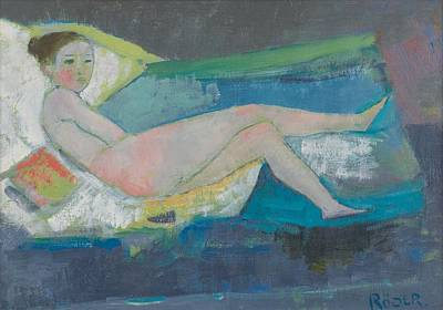 Chaise Longue Painting - The Young Model  by Endre Roder