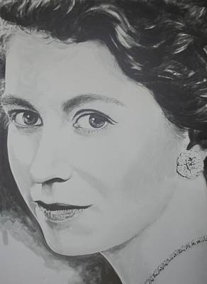 Queen Elizabeth Ii Painting - The Young Queen by Bruce McLachlan