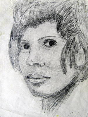 Portrate Drawing - The Young Shirly Bassey by Errol  Jameson