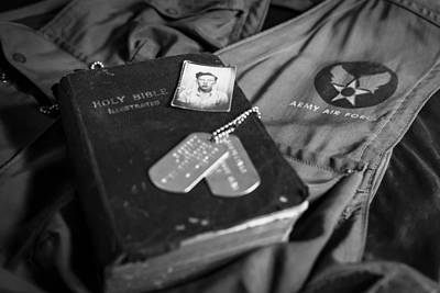 Photograph - The Youth Of Wwii Black And White by Amber Kresge