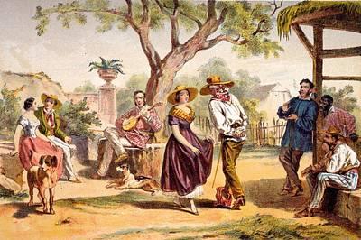 The Zapateado - National Dance, 1840 Art Print by Federico Mialhe