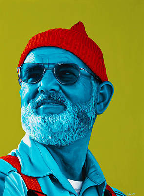 The Zissou- Background Edit Art Print by Ellen Patton