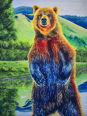 Kodiak Painting - The Zookeeper by Teshia Art