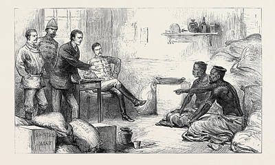 The Zulu War Interrogating Cetewayos Messengers At Dalmains Art Print