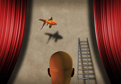 Surrealism Royalty-Free and Rights-Managed Images - Theater by Bruce Rolff