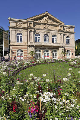Theater Building Baden-baden Germany Print by Matthias Hauser
