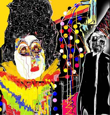 Digital Art - Theater Clown by Rc Rcd
