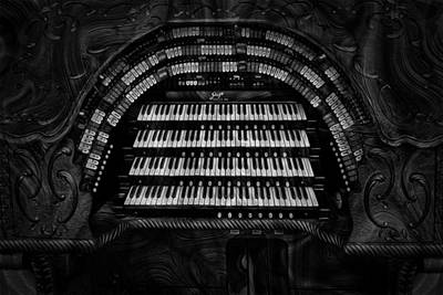 Stadium Digital Art - Theater Organ by Jack Zulli