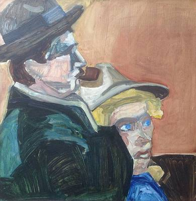 Wall Art - Painting - Theatre Couple by Kerrie B Wrye