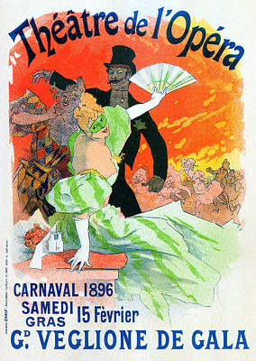 Painter Mixed Media - Theatre De Opera 1896 Carnival by Charlie Ross