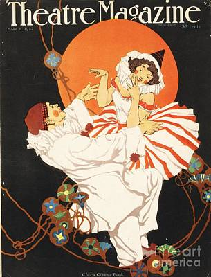 Theatre Magazine 1920s Usa Pierrot Art Print by The Advertising Archives