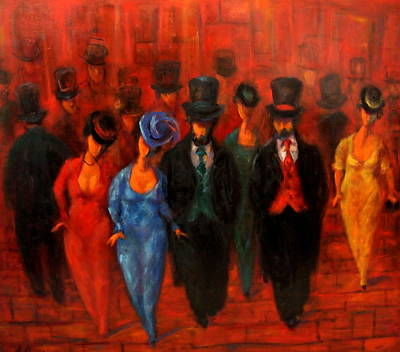 Painting - Theatre Night  by Marina R Burch