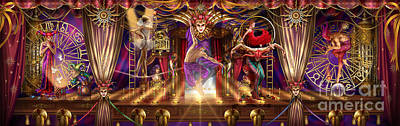 Jester Digital Art - Theatre Of The Absurd Triptych  by Ciro Marchetti