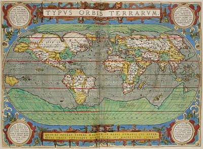 Cartography Photograph - Theatrum Orbis Terrarum by British Library
