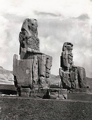 Photograph - Thebes Colossi Of Memnon by Granger