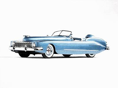 Motorcar Drawing - Theclassic Car 14 by Kenny Bundy