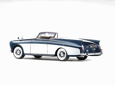 Motorcar Drawing - Theclassic Car 24 by Kenny Bundy