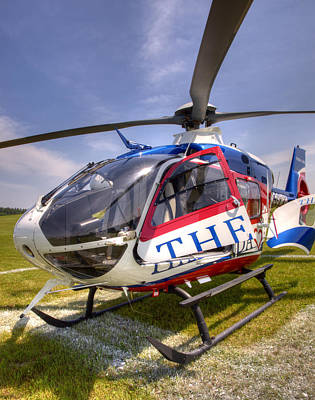 Medical Helicopter Photograph - Theda Star by Thomas Young