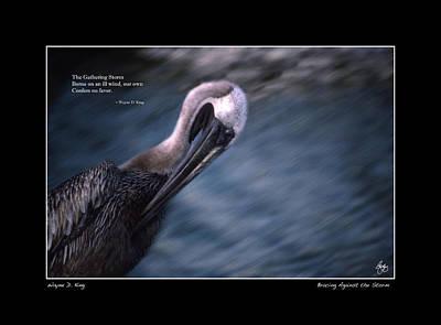 Photograph - Thegathering Storm Haiku Open Edition by Wayne King