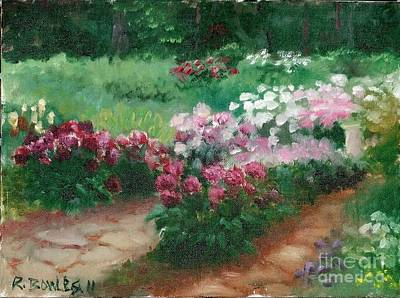 Painting - Thelma Steel's Garden by Ron Bowles