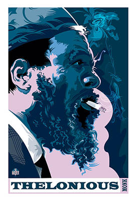 Jazz Royalty Free Images - Thelonious Monk Royalty-Free Image by Garth Glazier