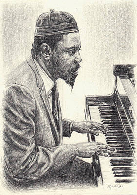 Drawing - Thelonious Monk II by Michael Morgan
