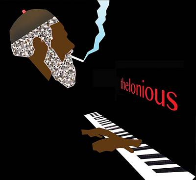 Bebop Digital Art - Thelonious Monk by Victor Bailey