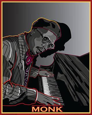 Thelonius Monk Legendary Jazz  Pianist Art Print by Larry Butterworth