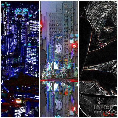 Citylife Digital Art - Them You Us   C by Ha Imako