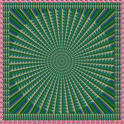 Champion Mixed Media - Theme Green Chakra Mandala  Tool For Yoga Meditation Healing Spiritual by Navin Joshi