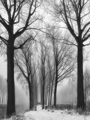 Fog Photograph - Then Winter Comes by Yvette Depaepe