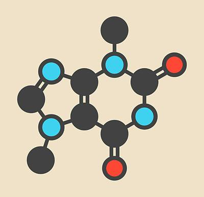 Aphrodisiac Photograph - Theobromine Chocolate Alkaloid Molecule by Molekuul