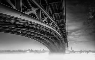 Germany Photograph - Theodor Heuss Bra??cke by Ole Moberg Steffensen