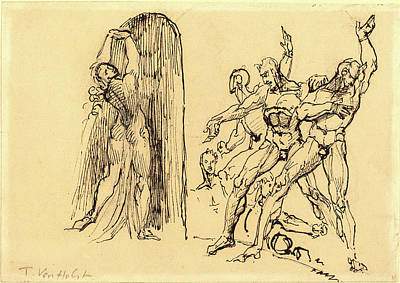 Portal Drawing - Theodore M. Von Holst, British 1810-1844 by Litz Collection