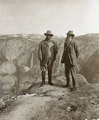 Theodore Roosevelt And John Muir Art Print by Library Of Congress
