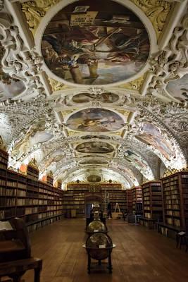 Famous Book Photograph - Theological Hall Strahov Monastery by Joan Carroll