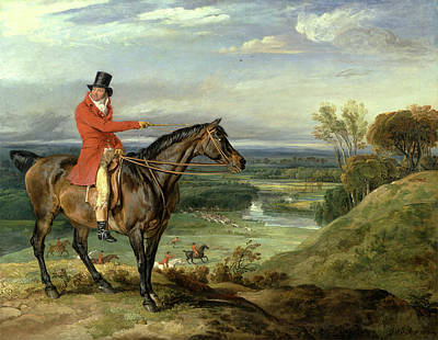 Theophilus Levett And A Favorite Hunter John Levett Hunting Print by Litz Collection