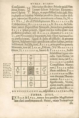 Theorem 13, Monas Hieroglyphica (1564) Art Print