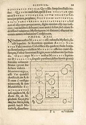 Theorem 22, Monas Hieroglyphica (1564) Art Print