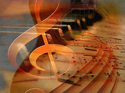 Digital Art - Theoretical Meaning Of Music by Georgiana Romanovna